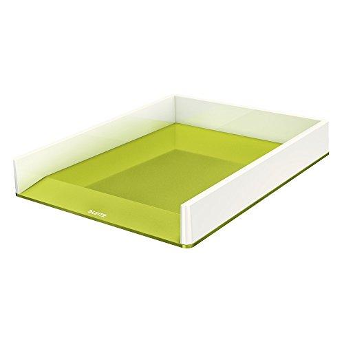 Leitz, A4 Briefablage, Weiß/Metallic Grün, WOW, 53611064