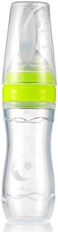Baby Toddler Leak-proof Food Dispensing Spoon Juice Cereal Feeding Bottle 120ml