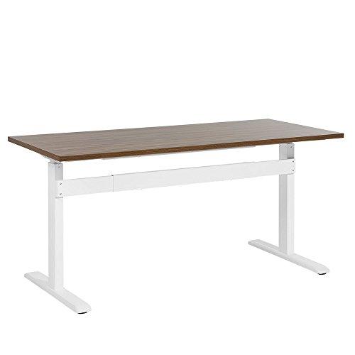 Beliani Schreibtisch braun/Weiss 180 x 80 cm manuell höhenverstellbar Uplift