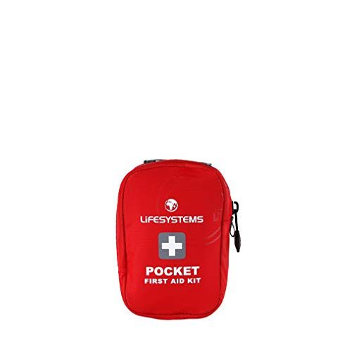Lifesystems Pocket Firs Aid Kid, Kit di Primo Soccorso Unisex Adulto, Rosso