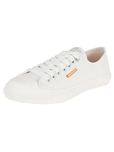 Superdry Herren Low Pro Sleek Sneaker Sneaker, Weiß Weiß