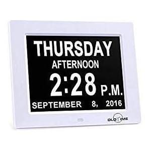 8″Kalenderuhr – Speicherverlust digitaler Kalendertag Uhr Tag, Monat, Zeit für ältere Menschen perfekte Mama, Papa und Senioren