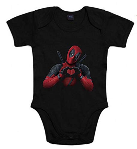Body de NIÑOS Deadpool Comic Marvel 3Meses