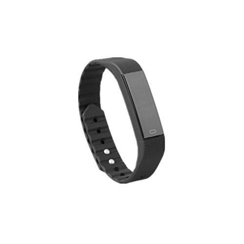 kuuboo Smart Fitness Tracker Smart Watch, mit Sleep Monitor Bluetooth 4.0Wasserdicht Smart Armband Sport Activity Tracker Pedometer mit Alarm Uhr/Schritt Tracker/Kalorien/eingehende Anruf und SMS Alert Push-Benachrichtigungen reminderscounter für Android, iOS, Schwarz