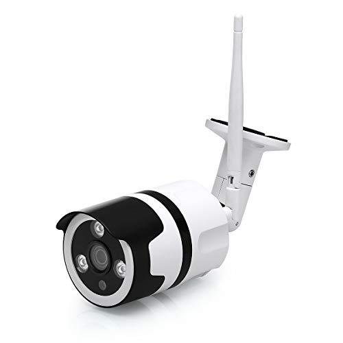 EMAX WLAN IP überwachungskamera, Überwachungskamera,wetterfest Outdoor Home Security Wi-Fi-fähige Kamera mit Nachtsicht, Unterstützt Micro SD Karte,for Smartphones,Tablets und Windows (2.0MP)