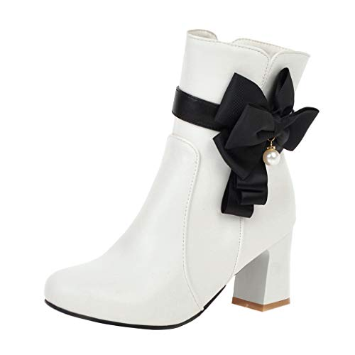 Neue Frauen Chic Bow-Knotted Ankle Boots Runde
