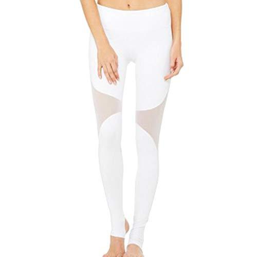 Frauen Yoga Leggings mit Mesh Treten Sie auf den Fuß Hohe Taillen Butt Lifter Tights Hose für Freizeit Fitness Jogging Pilates Turnhallen Athletische (Shorts Frauen Athletisch)