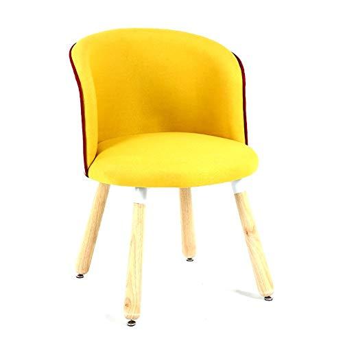 ZZV Schaukelstuhl Hellgrauer Rocker Relax Chair Loungesessel Lehnstuhl Leinen mit gepolsterter Sitzfläche (Color : Yellow) - Neue Bar Hocker Stuhl