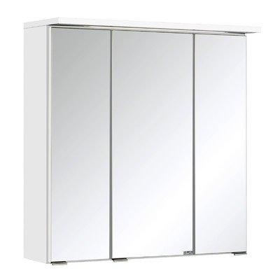 Held Möbel 009.1.0001 3D Spiegelschrank 60, Holzwerkstoff, weiß, 20 x 60 x 66 cm