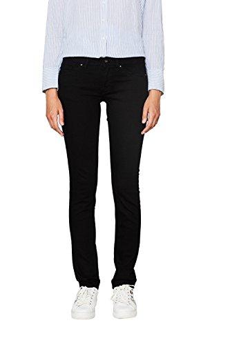 edc by ESPRIT Damen Slim Jeans 997CC1B802, Schwarz (Black Rinse 910), W33/L32