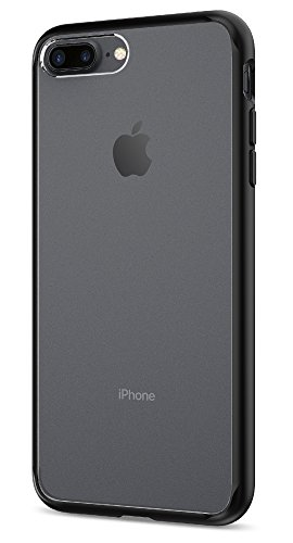Funda iPhone 7 Plus, Spigen [Ultra Hybrid] AIR CUSHION [Negro] Clear back panel + TPU bumper Funda Carcasa para iPhone 7 Plus (2016) - (043CS20550)