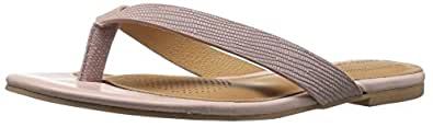 Corso Como Women's Volley Flip Flop, Light Pink Vintage Lizard, 6 US/6 M US