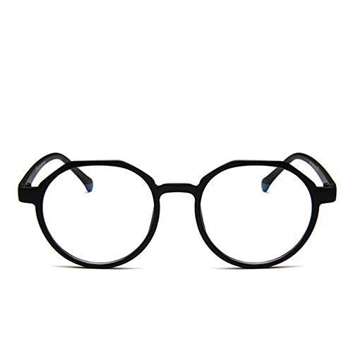 XCYQ Brillengestell Männer Frauen Brillengestell Retro Round Spectacle Transparente Brillen Frames, D