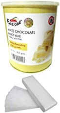 OUTOFBOX Beeone White Chocolate Milky Wax and 100 Strips (800g, White Chocolate+100)