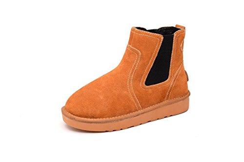 Les hommes et les femmes d'hiver faible chaussures bottes de neige chaussures en coton épais velours plus