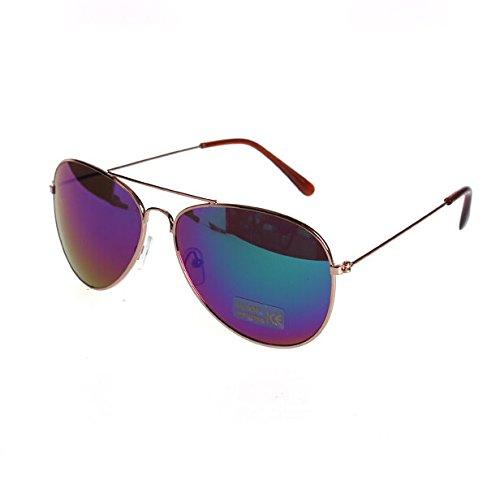 Mujeres Hombres Gafas de sol de aviador gafas Pornobrille Gafas espejo aviador del MyBeautyworld24 marca