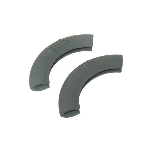 Staub 1190797 2 Silikongriffe rund, schwarz - Kochgeschirr Keramik Emaillierte