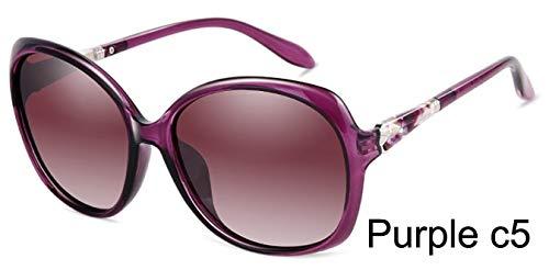 LKVNHP Markendesigner Großes Gesicht Ovale Sonnenbrille Frauen Polarisierte Retro Uv400 Mode Fahren Brille Frau
