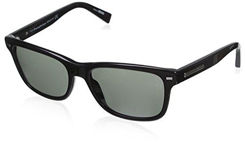 Occhiali da sole ermenegildo zegna ez0001 c56 01n (shiny black / green)