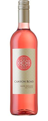 Wein Zinfandel (6x 0,75l - 2016er - Canyon Road - White Zinfandel - Kalifornien - Rosé-Wein lieblich)