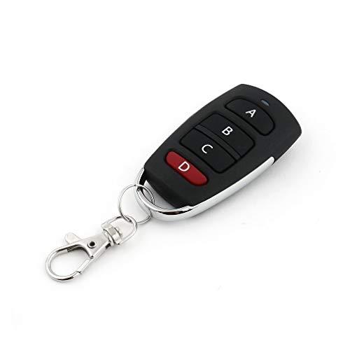 DDGEDMMS Universal-Autoschlüssel-Fernbedienung, 4Tasten, 433MHz, elektrischer Garagentor-Alarm