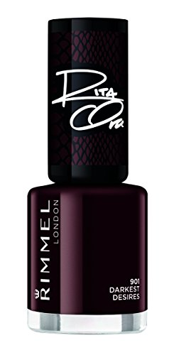 Rimmel London Vernis à ongles gris foncé super brillant, 8 ml