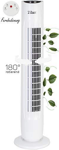 Turmventilator   3 Stufen   2 Modi   7,5h Timer   Fernbedienung   Oszillierend   Tower-Ventilator   Standventilator   Säulenventilator   Luftkühler   Fan