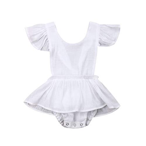 Zylione Mädchen Kleid Baby Normallack Fliegen Ärmel mit Bogen Rüschen gekräuselte Röcke Kinder Tag Geschenke