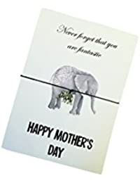 Happy Mother's Day Fantastic Elephant Wish Bracelet, Badge, Keyring or Mirror