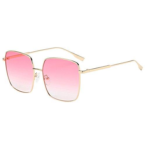 DOLLAYOU Unisex-Sonnenbrille, quadratischer Rahmen, Acetat-Rahmen, UV-Sonnenbrille Gr. Einheitsgröße, B