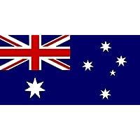 Manica dell'Australia di barca e bandiera della casa, 45 cm x 30 cm