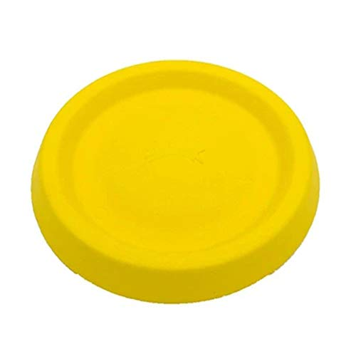 9 Zoll Hund Frisbee Outdoor Indoor Fetch Spielzeug Flying Floating Disc [Flying Disc Dog Fetch Toy - Floats In Water & Safe On Teeth] Dog Toys Medium Large Dog,Yellow -