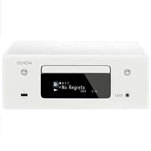 Denon CEOL-N10 Audio Receiver with CD Player, HiFi Amplifier for TV Sound, Bluetooth, 2x Optical Input, Google Assistant…