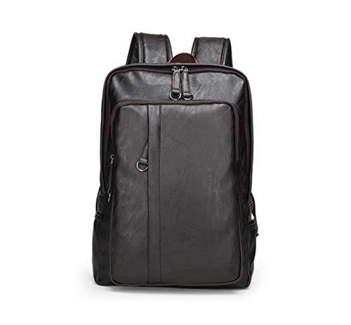HF morning Herren Arbeit Notebookrucksack 15 6 Zoll Laptop Backpack Business Leder Rucksack Versatile Wasserdicht Schultasche