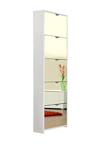 AVANTI TRENDSTORE - Schuhkipper, 5 Klappen, ca. 58x177x17 cm (Weiß)