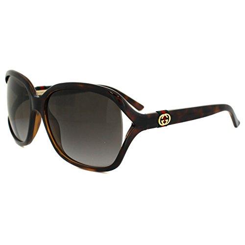 Gucci - Occhiali da Sole GG 3646/S HA, Donna, Lenti: Brown Shaded, Montatura: Havana (DWJ), 60