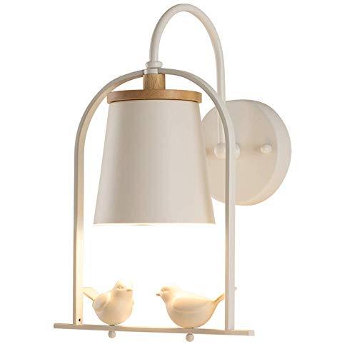 Moderne Task-lampe (NOHOPE Moderne Wandlampe für Kinderzimmer/Vogeldekor Geometrische Wandleuchte/weiße Schlafzimmerleuchte aus Holz im Schlafzimmer)