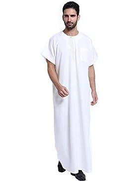 GladThink Uomini musulmano thobe Con Maniche corte