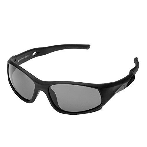 Kinder Sport Sonnenbrille Forepin® Polarisierte Kinderbrille Sportbrille Sportstyle für Jungen und Mädchen (3-10 Alter)