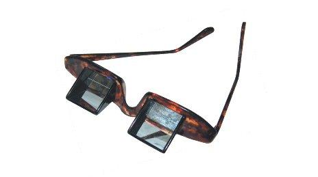 Prismabrille entspannungs TV-Brille PC Brille Notebook Brille - Sie haben alles im Blickfeld ohne den Kopf zu heben!
