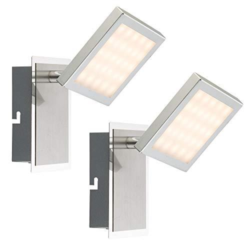 2x lampes murales LED spots spots salle à manger lumières de salle de bains chromé réglable