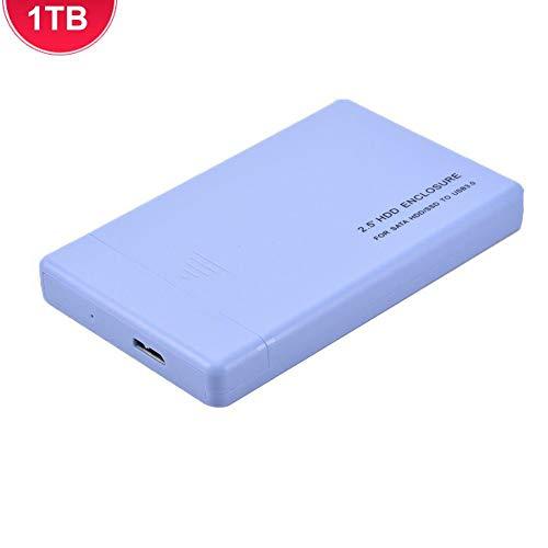 Jannyshop USB 3.0 Mobile Festplatte High Speed 6 GB schnelle Übertragung Solid State SSD Portable Data Storage Transmission Solid State Hard Disk (500G 1TB 2TB) 1TB blau -
