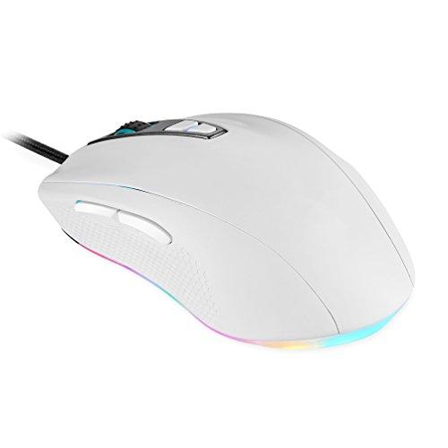 Gaming Mouse Wired 5000 DPI Atmungslicht Ergonomische Spiel USB Mäuse RGB 7 Tasten Für Windows 7/8/10 / XP PC Laptop Desktop Notebook,White