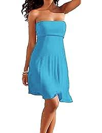 SODACODA 4 modèles en un - encore sans bretelles sexy de robe de plage ou l'été des femmes adaptées jupe maillots de bain