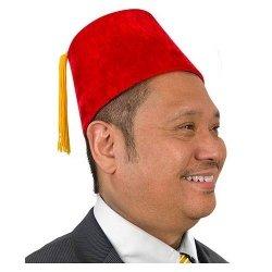 Kostüm Coole Con Comic - Red Fez Hat