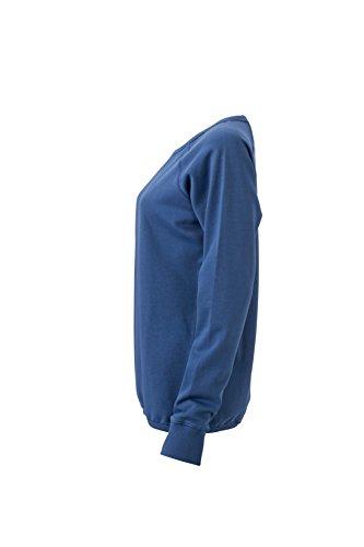 James & Nicholson Damen Basic Sweat Sweatshirt Blau (Denim)