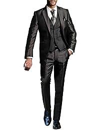 Suit Me 3-piezas traje 1 bot¨®n adapte a smoking de fiesta de la boda de la  chaqueta 6f780b400ad