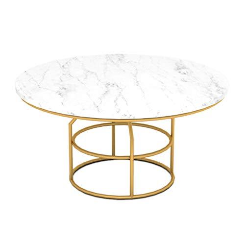 cozyhome AA Sofa Tisch, Hause Marmor kleine Couchtisch Wohnzimmer Schmiedeeisen runden Tisch Zuhause (größe : 60 * 60 * 29.5CM)