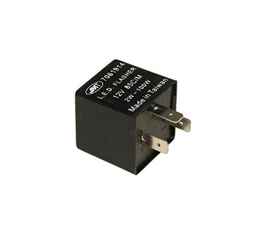 Blinker Relais 12V 3 Polig für LED Blinker 2 Watt - 130 Watt universal passt für viele Mofa, Mopeds, Roller, Quads und Motorräder - Relais 3 Polig