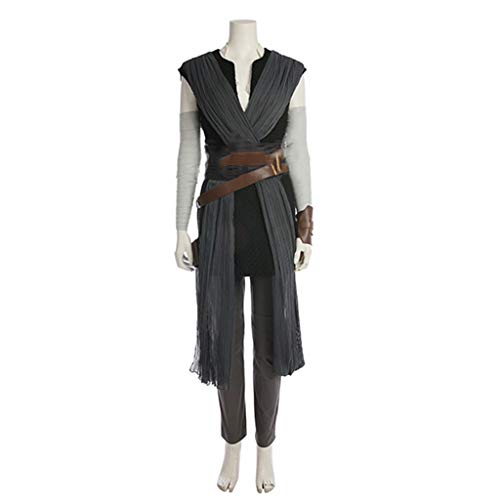 nihiug Star Wars 8 Der letzte Jedi-Krieger Rey Rey mit Cosplay-Kostümen Angepasste Halloween-Kostüme,Black-S(158to162) (Jedi Krieger Kostüm)